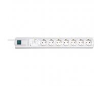 Brennenstuhl 1153320427 Primera-Tec 15.000A automatic extension socket with surge protection 7-way white 2m H05VV-F 3G1.5 1xMaster 4xSlave 2xPermanent