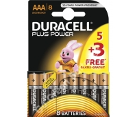Duracell MN2400/8 Battery Pack Of 8 Alkaline (AAA) ) Power Plus(23-09337)