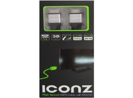 ICONZ IMN-HC35KS HDMI Cable Flat Black & Silver