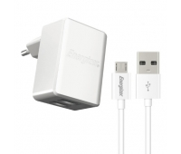 Energizer Ultimate Wall Charger 2 USB + MicroUSB Cable White