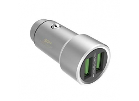 SP SP3A6ASYCC202P0S Car Charger 3.6A Dual USB Stylish and Robust Zinc Alloy Casing