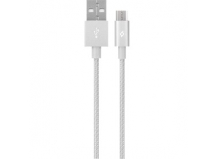 Ttec 8694470613185 AlumiCable Micro USB Charge/Data Cable Silver
