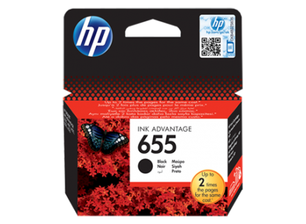 HP 655 BLACK INK CARTRIDGE,CZ109AE
