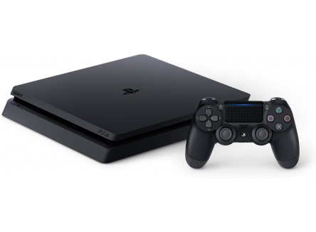 Sony Slim CUH-2116B PS4 1TB JET Black + Spider-Man Game + DS4 Controller extra