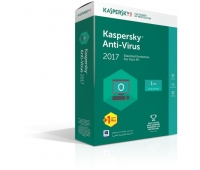 Kaspersky 2017 Anti Virus One User + one Free (PC)/License
