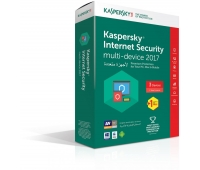 Kaspersky 2017 Internet Security Multi Device Three Users+One License Free